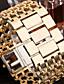 preiswerte Quartz-Damen Armbanduhr Quartz Transparentes Ziffernblatt Imitation Diamant Legierungmetall Band Analog Luxus Freizeit Armreif Silber / Gold / Rotgold - Gold Silber Rotgold