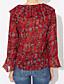 cheap Women's Blouses-Women's Street chic Blouse Print V Neck
