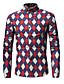 זול חולצות לגברים-משובץ דמקה כותנה, חולצה - בגדי ריקוד גברים / שרוול ארוך