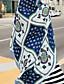 זול צעיפים אופנתיים-מלבן - דפוס יום יומי בגדי ריקוד נשים