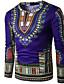 זול טישרטים לגופיות לגברים-גיאומטרי צווארון עגול טישרט - בגדי ריקוד גברים / שרוול ארוך