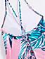 זול 2017ביקיני ובגדי ים-עלה טרופי פרחוני, דפוס - חלק אחד (שלם) בגדי ריקוד נשים