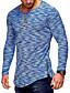 お買い得  メンズTシャツ&タンクトップ-男性用 プラスサイズ Tシャツ ベーシック / 軍隊 ラウンドネック ソリッド コットン ルビーレッド XL / 長袖