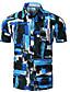 povoljno Muške košulje-Majica Muškarci - Osnovni Dnevno Geometrijski oblici Kineski ovratnik / Kratkih rukava
