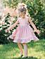 billige Babykjoler-Baby Jente Grunnleggende Ensfarget Ermeløs Bomull Kjole Rosa