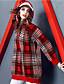 abordables Pulls & Gilets Femme-Femme Bloc de Couleur Manches Longues Pullover, Col Arrondi Automne / Hiver Rouge M / L / XL