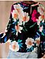 hesapli Tişört-Kadın's Tişört Desen, Çiçekli Temel Siyah