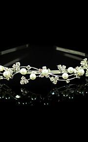 Cristal Imitation de perle Tissu Alliage Diadèmes Bandeaux 1 Mariage Occasion spéciale Fête / Soirée Casque