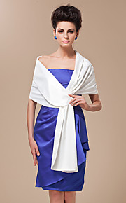 Silk Satin Wedding Party Evening Casual Women's Wrap Shawls Wedding  Wraps With Tiered Shawls