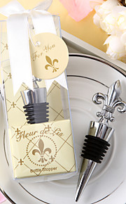 """Flowers Chrome Bottle Favor-1Piece/Set Bottle Stoppers Floral Theme Non-personalised Silver 4 3/4"""" x 1 1/4"""" x 1 3/4"""" (12x3x4cm)Gift box"""