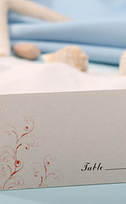 Place Cards and Holders Place Card - Red Flower Print (Set of 12)