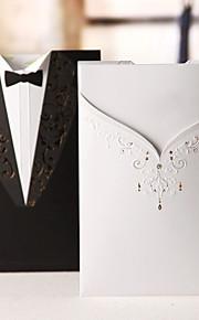 "Wrap & Pocket Wedding Invitations 50-Invitation Cards Classic Style Card Paper 7 1/5""×5"" (18.4*12.8cm)"