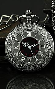 남성용 회중 시계 석영 블랙 캐쥬얼 시계 아날로그 빈티지 - 블랙 1 년 배터리 수명 / SSUO 377