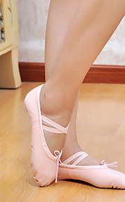 Men's Women's Ballet Canvas Flat White Black Red Pink Pink Non Customizable