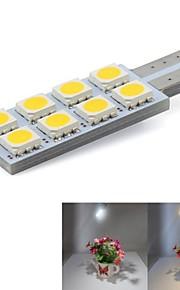 T10 Automatisch Lampen 0.5W SMD 5050 8 Deurlamp / Richtingaanwijzerlicht / Nummerplaatverlichting