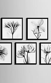 Toile Encadrée Set de Cadres - A fleurs/Botanique PVC Illustration
