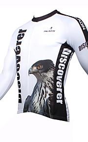 ILPALADINO Homme Manches Longues Maillot de Cyclisme Bande dessinée / Animal Vélo Maillot, Garder au chaud, Séchage rapide, Résistant aux