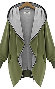 Women's Going out Solid Long Sleeves Cotton Winter Medium Micro-elastic