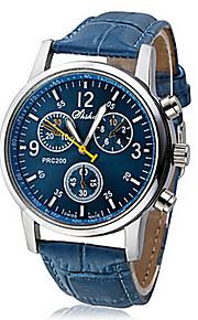 Men's Quartz Wrist Watch Casual Watch PU Band Casual Black / White / Blue
