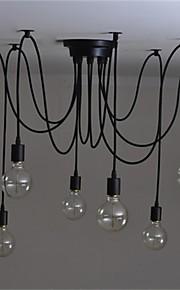 8 lumières Lustre Lumière d'ambiance - Style Bougie, 110-120V / 220-240V Ampoule non incluse / 15-20㎡ / E26 / E27