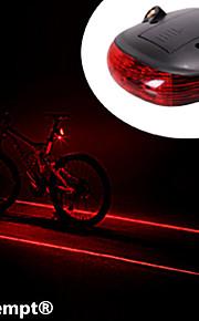 Eclairage de Vélo / bicyclette Lampe Arrière de Vélo Laser LED Cyclisme Résistant aux impacts Imperméable Laser Batterie au lithium Lumens