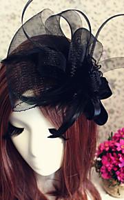 Tulle Bandeaux Fascinators Fleurs Chapeaux 1 Mariage Occasion spéciale De plein air Casque