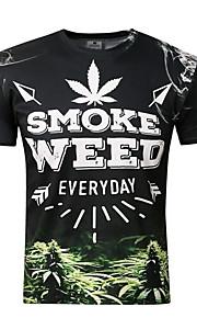 Hombre Deportes Estampado Camiseta Letra Negro XXL / Manga Corta