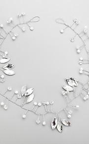 Napodobenina perel Štras Slitina Čelenky 1 Svatební Zvláštní příležitosti Přílba