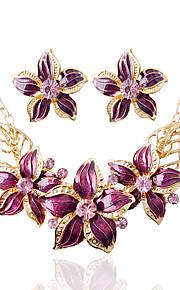 Damen Schmuck-Set Ohrringe Halsketten - Weiß Schwarz Blau Dunkelrot Braut-Schmuck-Sets Für Hochzeit Party Alltag