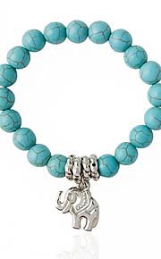 Damen Strang-Armbänder - Modisch Kreisform Hellblau Armbänder Für Hochzeit