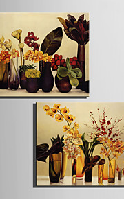 Floral/Botanical Classic, Two Panels Canvas Vertical Print Wall Decor Home Decoration
