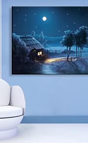 LED-kanvaskonst Landskap En panel Vertikal väggdekor Hem-dekoration