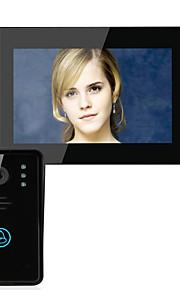 Ennio 7 Video sistema di telefono citofono campanello pulsante a sfioramento sbloccare a distanza di visione notturna telecamera di