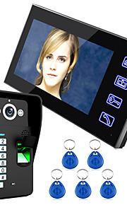 Ennio toccare il tasto 7 LCD della fotocamera sistema videocitofonico riconoscimento delle impronte digitali citofono ir HD 1000 TVLine