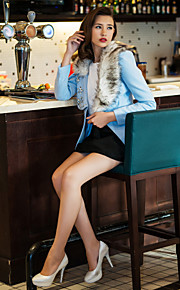 Damen-Solide Schick & Modern Mantel