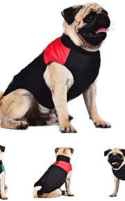 Γάτα Σκύλος Παλτά Veste Ρούχα για σκύλους Συνδυασμός Χρωμάτων Κόκκινο  Πράσινο Μπλε Βαμβάκι Στολές Για κατοικίδια d2af97c3943
