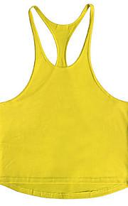 男性用 スポーツ / ビーチ タンクトップ 活発的 / ストリートファッション ソリッド コットン / ノースリーブ
