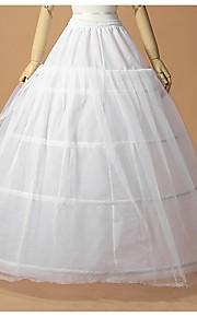 חתונה אירוע מיוחד תחתונית  פוליאסטר טול אורך עד לרצפה A- קו תחתוניות סליפ שמלת נשף עם