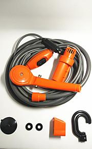 Coche de la ducha de color naranja ducha 12v eléctrica ducha al aire libre fácil lavadora