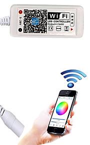Opdateret wifi trådløs led controller til rgb led strip lysarbejde med android / ios mobiltelefon16 millioner farver 20 dynamiske