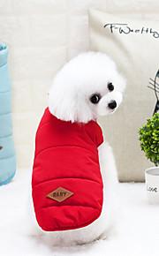 6d2179e78e83 Γάτα Σκύλος Παλτά Veste Χειμωνιάτικη ένδυση Ρούχα για σκύλους Γράμμα &  Αριθμός Κίτρινο Κόκκινο Μπλε Νάιλον