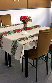 100% polyesteri Neliö Table Cloths Patterned Ekologinen Pöytäkoristeet
