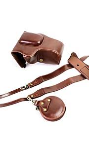 dengpin pu læder kamera taske taske til Canon Eos 200d 18-55mm objektiv (forskellige farver)