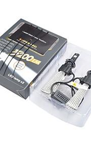 2pcs H4 H7 Bil Elpærer W Integreret LED 4000lm lm Hovedlygte