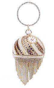 Women's Bags Polyester Evening Bag Beading Pearl Detailing for Wedding Event/Party All Seasons Gold