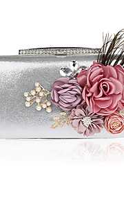 Women's Bags PVC Evening Bag Flower for Wedding Event/Party All Seasons Black Silver Red Purple Fuchsia