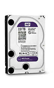 WD® Hard Diske Western Digital WD20PURX 2TB (IntelliPower 64MB Cache) 3.5-inch CCTV NVR for Sikkerhed Systemer 18*13cm 0.6kg