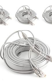 Kabler 4PCS 132ft RJ45 Video Network Cable DC Power Camera Extension for Sikkerhed Systemer 4000cm 3.3kg