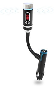 F33 Wireless Bluetooth FM Transmitter Radio Adapter Car Kit with Hands-free Calling USB Charging Port for Car Audio Stereo Devices