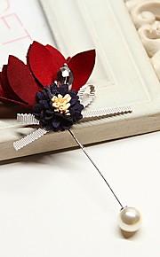 Dames Broches - Bloem Koreaans Broche Lichtblauw / Licht Roze / Marine Blauw Voor Bruiloft / Dagelijks